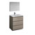 "30"" Gray Wood Full Vanity Set Product View"
