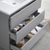 "36"" Gray Full Vanity Set Tiered Drawers"