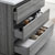 "36"" Glossy Ash Gray Full Vanity Sets Tiered Drawers"