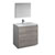 "36"" Glossy Ash Gray Full Vanity Sets Product View"