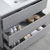 "42"" Gray Full Vanity Set Tiered Drawers"