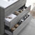 "42"" Glossy Ash Gray Full Vanity Sets Tiered Drawers"