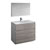 "42"" Glossy Ash Gray Full Vanity Sets Product View"