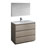 "42"" Gray Wood Full Vanity Set Product View"