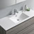 Glossy Ash Gray Single Vanity Set Overhead View