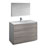 Glossy Ash Gray Single Vanity Set Product View