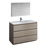 Gray Wood Single Vanity Set Product View