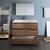 Rosewood Single Vanity Set Drawers Open