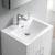 "24"" Glossy White Full Vanity Set Overhead View"