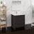 "30"" Dark Gray Oak Full Vanity Set Side View"