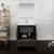 "30"" Dark Gray Oak Full Vanity Set Drawers/Cabinet Open"