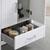 """30"""" Glossy White Full Vanity Set/Cabinet Open"""