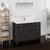"48"" Dark Gray Oak Full Vanity Set Side View"