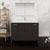 "48"" Dark Gray Oak Full Vanity Set Front View"