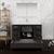 "48"" Dark Gray Oak Full Vanity Set Drawers/Cabinet Open"