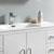"""48"""" Glossy White Full Vanity Set Basin"""