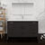Dark Gray Oak Single Full Vanity Set Front View