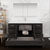 Dark Gray Oak Single Full Vanity Set Overhead View