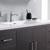 Dark Gray Oak Single Full Vanity Set Handles