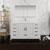 Glossy White Single Full Vanity Set Side View