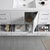 Glossy White Single Full Vanity Set Handles