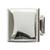 Hafele Hickory Bridges Collection Square Knob, Polished Chrome, 32mm W x 28mm D x 32mm H