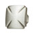 Hafele Hickory Bridges Collection Knob, Satin Nickel, 30mm W x 25mm D x 30mm H