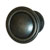 Hafele Keystone Fluted Style Collection Round Knob, Antique Black, 30mm Diameter