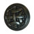 Hafele Keystone Woven Style Collection Round Knob, Antique Black, 32mm Diameter
