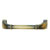 Hafele Keystone Fluted Style Collection Handle, Antique Satin Brass, 106mm W x 20mm D x 31mm H, 96 Center to Center