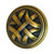 Hafele Keystone Woven Style Collection Round Knob, Antique Satin Brass, 32mm Diameter