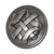 Hafele Keystone Woven Style Collection Round Knob, Satin Pewter, 32mm Diameter