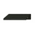 Hafele Tab Collection Handle in Polished Black, 70mm W x 42mm D x 18mm H