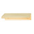 "Hafele Tab Collection ""L"" Handle in Brushed Brass, 70mm W x 42mm D x 18mm H"
