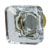 Hafele Amerock Glacio Collection Square Knob, Golden Champagne/ Clear, 35mm W x 35mm D x 33mm H