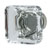 Hafele Amerock Glacio Collection Square Knob, Polished Nickel/ Clear, 35mm W x 35mm D x 33mm H