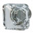 Hafele Amerock Glacio Collection Square Knob, Satin Nickel/ Clear, 35mm W x 35mm D x 33mm H