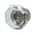Hafele Amerock Traditional Classics Collection Glass Knob, Clear/ Polished Nickel, 33mm Diameter
