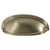 Hafele Amerock Ashby Collection Cup Pull, Golden Champagne, 128mm W x 44mm D x 35mm H, 76/ 102mm Center to Center