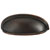 Hafele Amerock Ashby Collection Cup Pull, Oil-Rubbed Bronze, 128mm W x 44mm D x 35mm H, 76/ 102mm Center to Center
