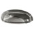 Hafele Amerock Ashby Collection Cup Pull, Polished Nickel, 128mm W x 44mm D x 35mm H, 76/ 102mm Center to Center