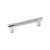 Hafele Amerock Esquire Collection Handle, Polished Nickel/ Matt Stainless Steel, 151mm W x 16mm D x 38mm H, 128mm Center to Center