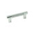 Hafele Amerock Esquire Collection Handle, Polished Nickel/ Matt Stainless Steel, 119mm W x 16mm D x 38mm H, 76/ 96mm Center to Center