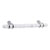 Hafele Amerock Carrione Collection Handle, White Marble/ Polished Nickel, 191mm W x 21mm D x 40mm H, 128mm Center to Center