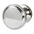 Hafele Amerock Westerly Collection Round Knob, Polished Nickel, 30mm Diameter