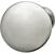 Hafele Chanterelle Collection Mushroom Knob in Satin Chrome, 30mm W x 28mm D x 17mm Base Diameter