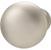 Hafele Chanterelle Collection Mushroom Knob in Matt Nickel, 30mm W x 28mm D x 17mm Base Diameter
