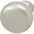 Hafele (1-1/4'') Diameter Mushroom Round Knob in Matt Nickel, 31mm Diameter x 28mm D x 15mm Base Diameter