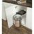 Hafele Built-In Waste Bin for Swing Out Behind Door