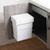 Hafele Vanity Waste Bin, White, 8L